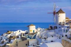 Остров Oia Santorini, Киклады, Греция Стоковое фото RF