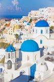 Остров Oia Santorini, Киклады, Греция Стоковая Фотография