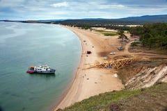Остров Olkhon, Lake Baikal Стоковые Изображения RF