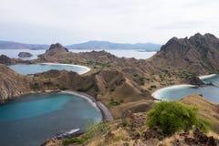 Остров Padar в Labuan Bajo, Flores Индонезии стоковые фотографии rf