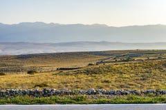 остров pag Хорватии Стоковое Изображение