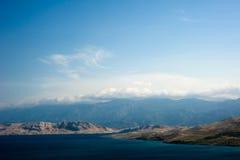 остров pag Хорватии Стоковые Изображения RF
