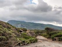 Остров Pantelleria, Италия ландшафт вулканических пород стоковое изображение rf