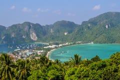 Остров Phi Phi Koh в Таиланде Стоковое фото RF