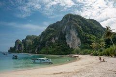 Остров Phi Phi после цунами Стоковое Изображение RF
