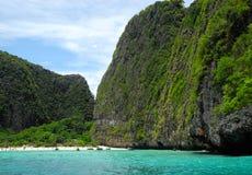 Остров phi phi Ko залива Майя - Таиланд Стоковая Фотография RF