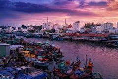 Остров Phu Quoc во Вьетнаме на заходе солнца стоковое изображение rf