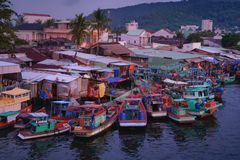 Остров Phu Quoc во Вьетнаме на заходе солнца стоковые фото