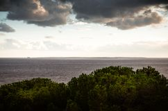 Остров pianosa от острова Эльбы стоковые фотографии rf