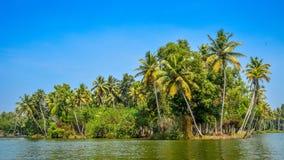 Остров Poovar, Керала, Индия стоковое изображение rf