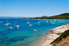 Остров Porquerolles, Франция Стоковое Изображение RF