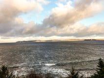 Остров Rathlin от около Ballycastle стоковые фотографии rf