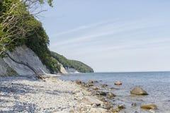 Остров Ruegen, побережье мела, Германия Стоковое Фото