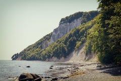 Остров Ruegen, побережье мела, Германия Стоковое Изображение RF