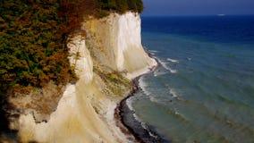 Остров Ruegen, скалы мела сток-видео