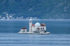 Остров ` s St. George, Kotor, Черногория Стоковая Фотография