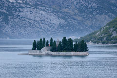 Остров ` s St. George, Kotor, Черногория Стоковые Изображения