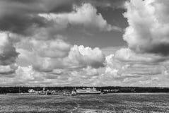 Остров Saaremaa, Эстония, Европа, ландшафт стоковые изображения rf
