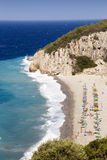 остров samos пляжа стоковое изображение rf
