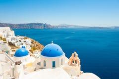 Остров Santorini, Греция Известное назначение перемещения стоковая фотография