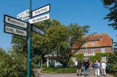 Остров Spiekeroog курорта, Германия стоковая фотография rf