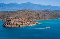 Остров Spinalonga, Крит, Греция стоковые изображения rf