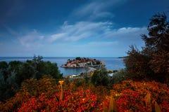 Остров St Stefan Черногория Стоковая Фотография