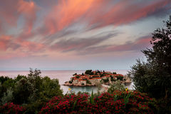 Остров St Stefan Черногория Стоковое фото RF
