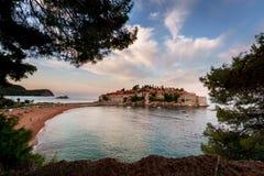 Остров St Stefan Черногория Стоковые Изображения