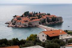Остров St Stephen Черногория Стоковая Фотография