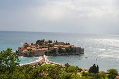 Остров Stefan Святого, Черногория стоковое изображение rf