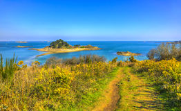 Остров Sterec - Бретань, Франция Стоковые Фото