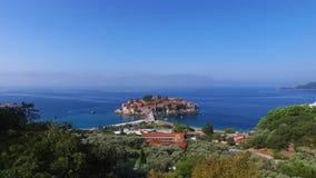 Остров Sveti Stefan, Черногории видеоматериал