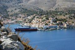 Остров Symi, Греция Стоковое фото RF