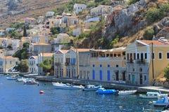 Остров Symi, Родос стоковые изображения rf