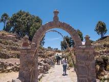 Остров Taquile в Puno, Перу Стоковое Изображение