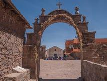 Остров Taquile в Puno, Перу Стоковое Фото