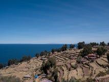 Остров Taquile, зона Puno, Перу Стоковые Фото