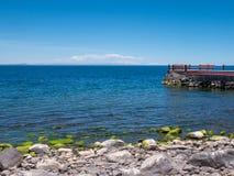 Остров Taquile и озеро Titicaca, зона Puno, Перу Стоковое фото RF