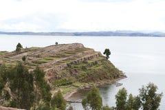 остров taquile Стоковое Фото