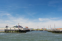 Остров Texel малой гавани голландский Стоковое Фото