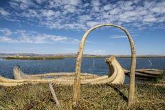 Остров Uros стоковое изображение rf