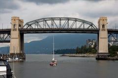 остров vancouver granville Канады burrard моста Стоковая Фотография