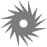 Остроконечная, нервная форма вращая внутрь Стоковое Изображение RF