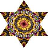 6 остроконечных мозаик звезды в ярких цветах Стоковое Изображение RF