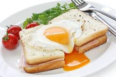 острословие сандвича madame ветчины croque сыра французское Стоковая Фотография RF