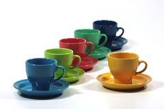 острословия чая плит чашек стоковое фото
