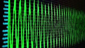 Осциллограмма на экране ПК акции видеоматериалы