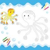 Осьминог шаржа Стоковые Фото
