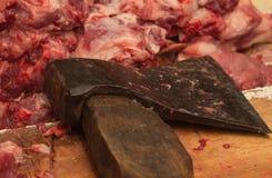 Ось вырезывания мяса Стоковое Изображение